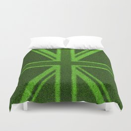 Grass Britain / 3D render of British flag grown from grass Duvet Cover