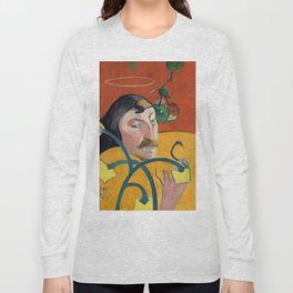 """Paul Gauguin """"Self-Portrait with Halo and Snake"""" Long Sleeve T-shirt"""