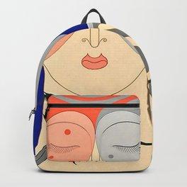 "Art Deco Design ""Optimism and Pessimism"" Backpack"