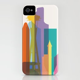 Shapes of Seattle accurate to scale iPhone Case
