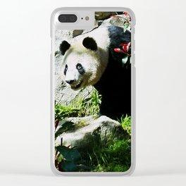 Panda Smile Clear iPhone Case