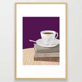 Teacup, Jane Austen, & Charlotte Brontë Books Framed Art Print
