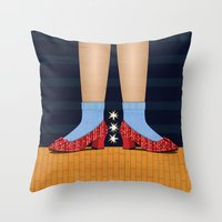 dorothy Throw Pillows featuring Dorothy by Lucky Skye