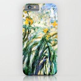 Claude Monet Yellow Irises and Malva iPhone Case