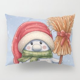 A little snowman Pillow Sham
