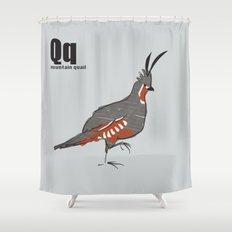 mountain quail Shower Curtain