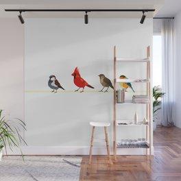 Little birds. Spring. Wall Mural