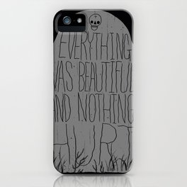 slaughterhouse V - everything was beautiful - vonnegut iPhone Case
