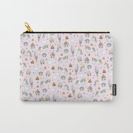 Unicorn poop and cupcakes pattern Carry-All Pouch
