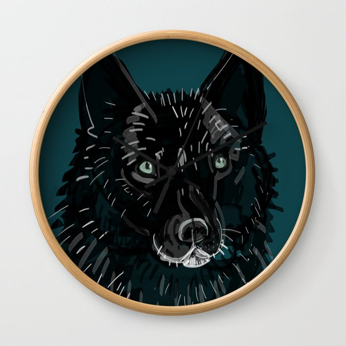 Totem Romeo the wolf Wall Clock