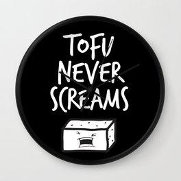 TOTU NEVER SCREAMS Wall Clock