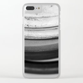 Coiled Snake - An Abstraction Clear iPhone Case
