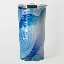 DNA Molecule Helix Science Abstract Background Art Travel Mug