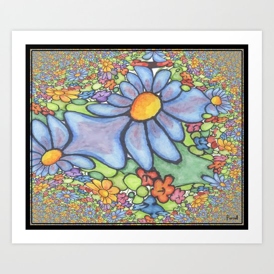 Someone stepped on the Daisies Art Print