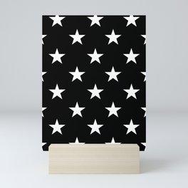 Stars (White/Black) Mini Art Print