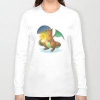 charizard Long Sleeve T-shirts featuring Charizard by Jeanette Aga