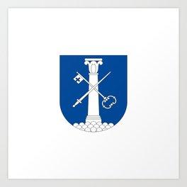 Flag of Drammen Art Print