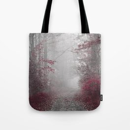 Country Road in Burgundy and Gray Tote Bag