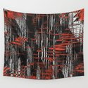 Red and Black Modern Art by leatherwooddesign