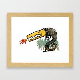 Dragon in a Sweater Framed Art Print