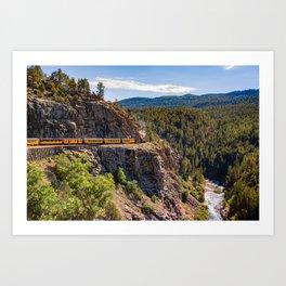 On the High Line - Durango-Silverton Narrow Gauge Railroad Art Print