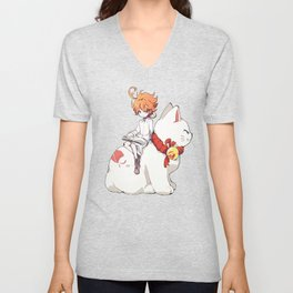 Emma The Promised Neverland Unisex V-Neck