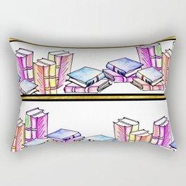 The Bookshelf Rectangular Pillow