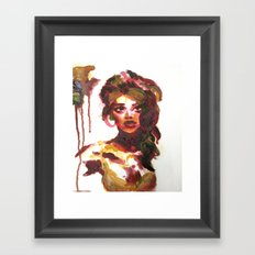 Mat Board Lady (2) Framed Art Print