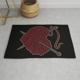 I Love Knitting | Wool Needle Heart Sewing Craft Rug