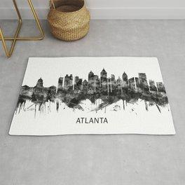 Atlanta Georgia Skyline BW Rug