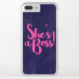 She's The Boss Clear iPhone Case