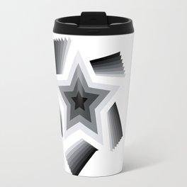 black white star Travel Mug