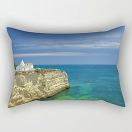 Chapel on the cliffs, Portugal Rectangular Pillow