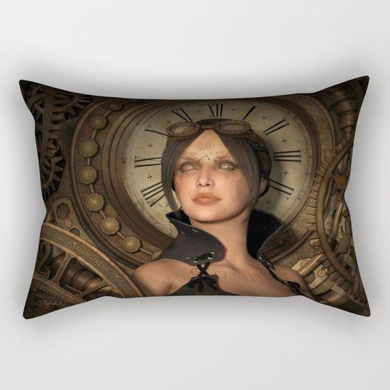 Steampunk Time Keeper Rectangular Pillow