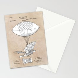 patent art Spalding Flying Machine 1889 Stationery Cards