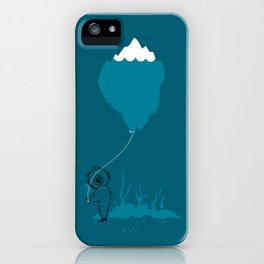 The Diver and his Balloon iPhone Case