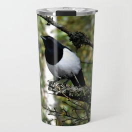 Eurasian Magpie Travel Mug