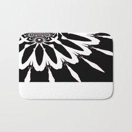 The Modern Flower Black White Pink Bath Mat