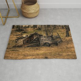 Visions Of The Past - Rustic Shed Rug