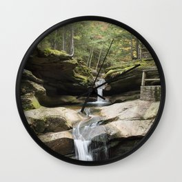 waterfall in NH Wall Clock