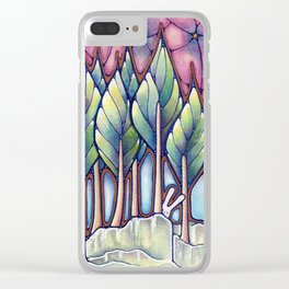 Bunnies in the Forest Clear iPhone Case