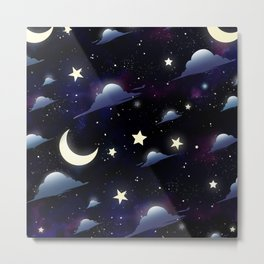 Crescent Moon Sky Metal Print