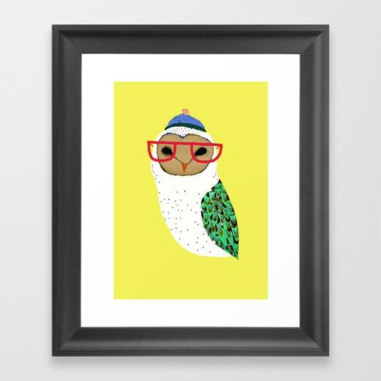 I Love Owls Framed Art Print