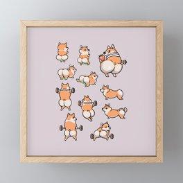 BEST GLUTES FOR CORGIS WORKOUT Framed Mini Art Print