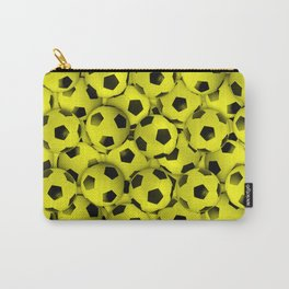 Field of Yellow Soccer Balls Carry-All Pouch