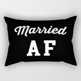 Married AF Funny Quote Rectangular Pillow
