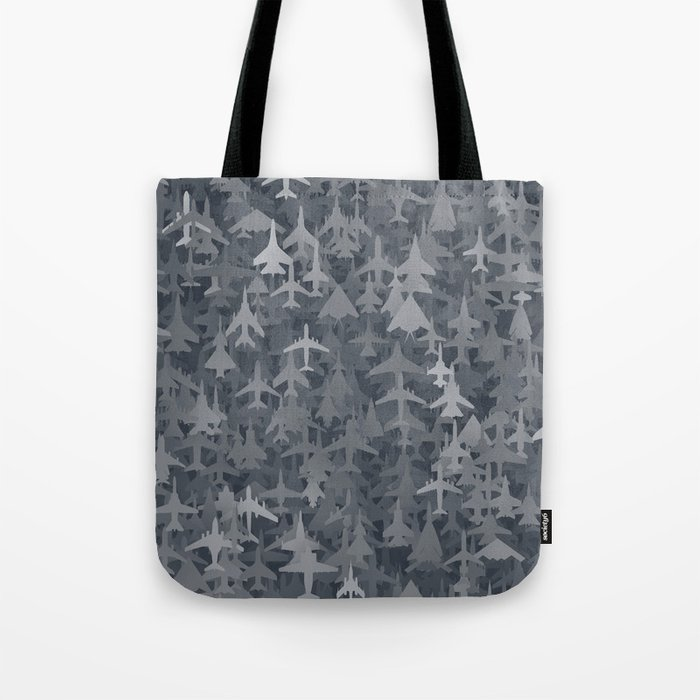 Airplanes camouflage Tote Bag