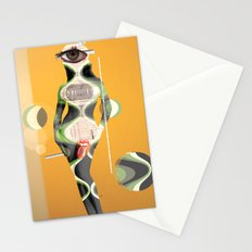 SiLuEtte 2 woman Stationery Cards