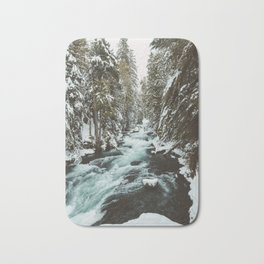 The Wild McKenzie River Portrait - Nature Photography Bath Mat