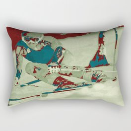 The descent (downhill skiing) Rectangular Pillow